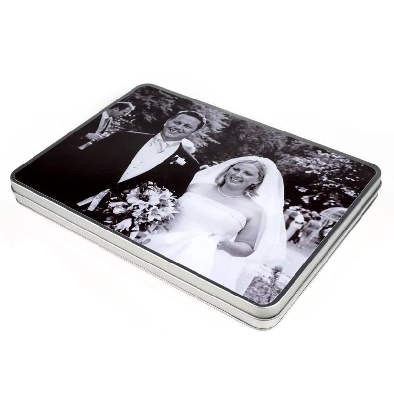 Tin Mailbox: Personalized Metal Tin Box With Hinge Lid