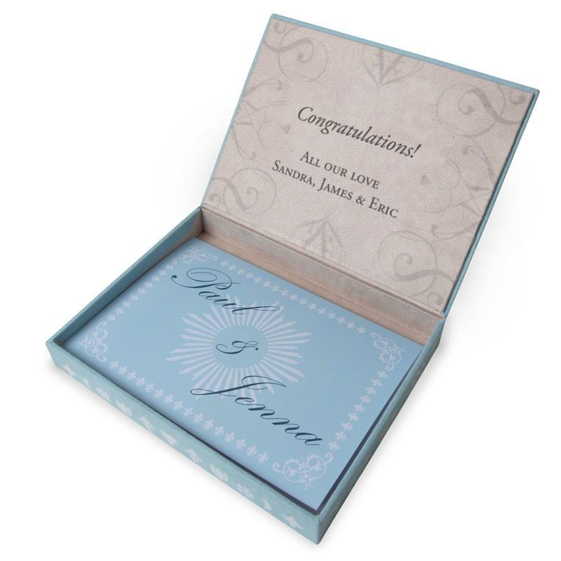 Personalised Wedding Gifts Voucher : Personalized Wedding Favor Boxes Gift Voucher Bags Of Love