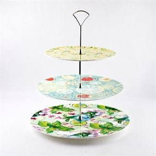 All Three Tiers of Personalized Cake Stand